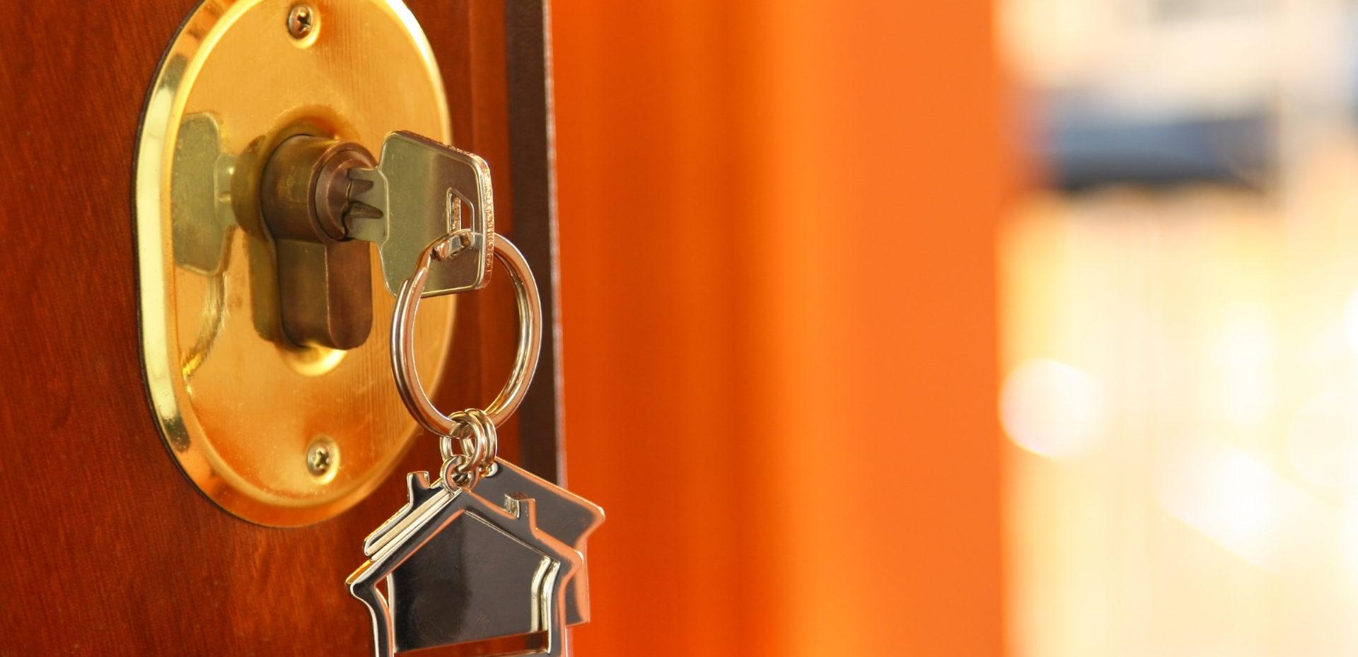 key in a door lock